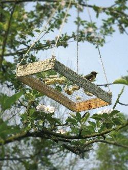 Karmnik dla ptaków z siatki Casanet firmy Betafence